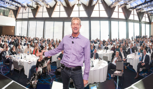 David Meerman Scott at an event this week showing the audience howto boost sales