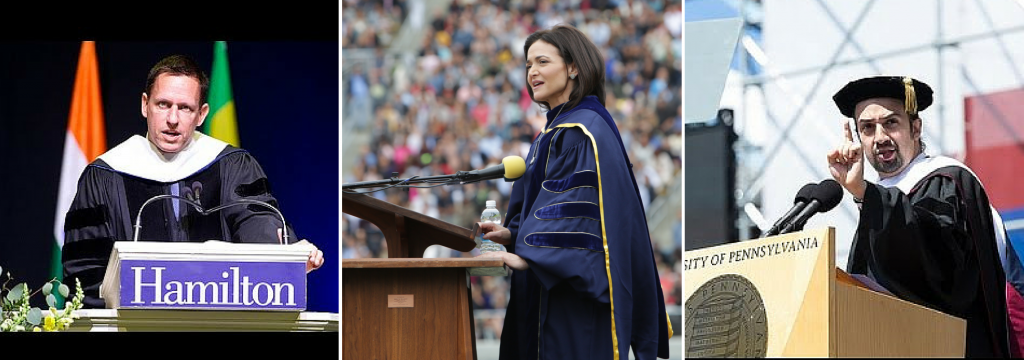 Thiel - Sandberg - Miranda- and More VIKRAM MANSHARAMANI on 2016's Best Commencement Advice