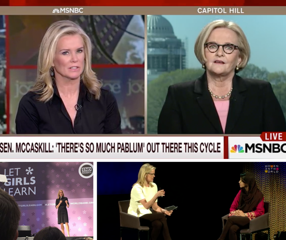 Katty Kay, news anchor, on the air and at events